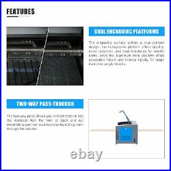2021 CO2 Laser Engraver Cutter 50W 20x12 Engraving Cutting Machine Ruida DSP