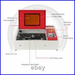 2021 CO2 Laser Engraver Cutter Manual Engraving Cutting Machine K40 40W 12x 8
