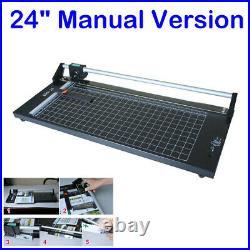 24'' Manual Precision Rotary Paper Trimmer, Sharp Photo Paper Cutter Machine New