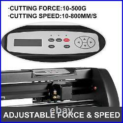 28 Vinyl Cutter Plotter Cutting Machine Sign Sticker Making Software 3 Blades
