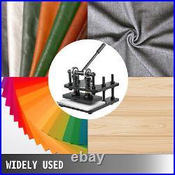 3300 lb Manual Leather Cutting Machine 280X140mm Max. 10mm PVC/Paper Die Cutter