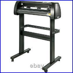 34 Vinyl Cutter Plotter Cutting Machine Kit withSignSoftware 3 Blades LCD Screen