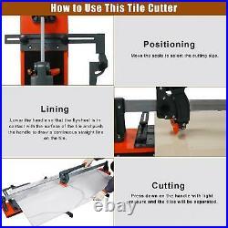 48 Manual Tile Porcelain Cutter Machine Tungsten Carbide Cutting Wheel with4 Feet