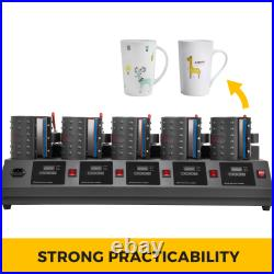 5 in 1 Digital 5 Cup Mug Heat Press Machine Withpaper cutter Batch printing 1500W