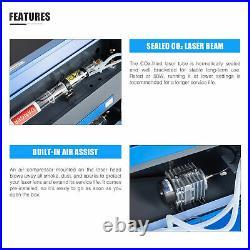 50W 20x12 CO2 Laser Engraver Cutter Cutting Engraving Marking Machine Ruida