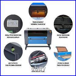 60W 28x20 Bed CO2 Laser Engraving Machine Engraver Cutter Ruida with LightBurn