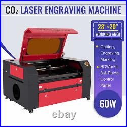 60W CO2 Laser Engraver Cutter Machine with 20x28 Inch Workbed and Ruida Control