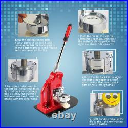 Badge Button Maker Making Machine +1000 Die Mold Punch Press Circle Cutter DIY
