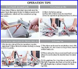 CGOLDENWALL Manual Meat Slicer for Home Use Meat Bone Cutter Machine Stainles