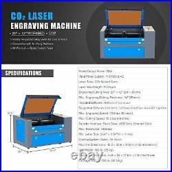 CO2 Laser Engraver Cutter 50W 20x12/50x30cm Engraving Cutting Marking Machine