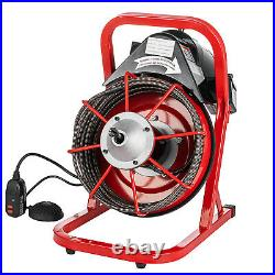 Commercial 50FT 3/8 Electric Drain Auger Drain Cleaner Machine Snake with Cutter