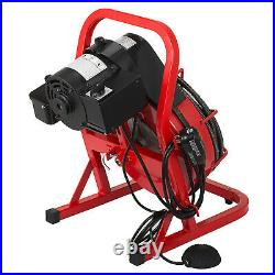 Commercial SEWER SNAKE 1/2 Drain Auger Cleaner 50 ft long Foot Switch 8 Cutters