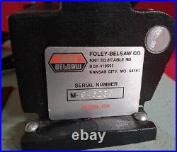 Foley Belsaw Manual Key Machine Model 200 Cutter New Belt SUPER CLEAN