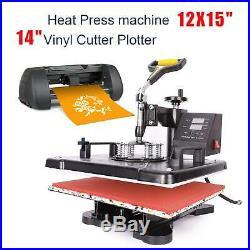 Heat Press Machine 15x12 14 Vinyl Cutter Plotter Business Printer Sublimation