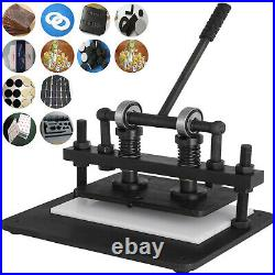 Leather Cutting Machine Manual Die Cutter 260X150mm Leather Embossing Machine US