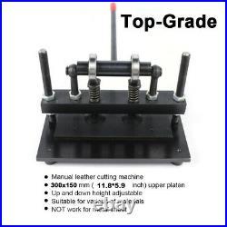 Leather Cutting Machine Manual Die Cutter Leather Embosser Hand Press Craft 30cm
