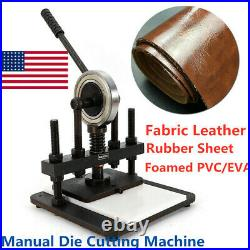 Leather Cutting Machine Manual Die Cutter Leather Embossing Machine 373239cm
