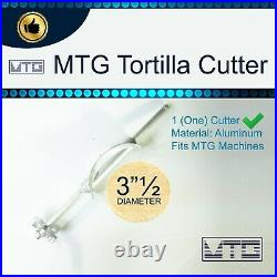 MTG Tortilla Machine Roller & Crank Full PK 2 Cutters Included 3.5 and 4