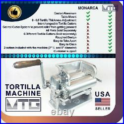 MTG Tortilla Machine Roller & Crank Full PK 2 Cutters Included 3.5 and 5