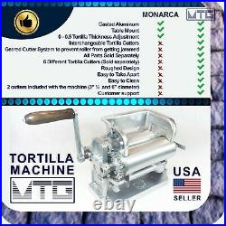 MTG Tortilla Machine Roller & Crank Full PK 2 Cutters Included 3.5 and 6
