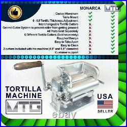 MTG Tortilla Machine Roller & Crank Full PK 2 Cutters Included 4.5 and 5.5