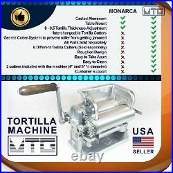 MTG Tortilla Machine Roller & Crank Full PK 2 Cutters Included 4 and 5.5