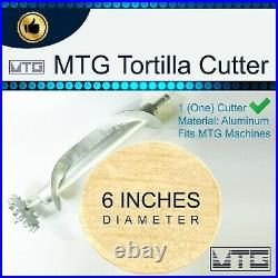 MTG Tortilla Machine Roller & Crank Full PK 2 Cutters Included 4 and 6