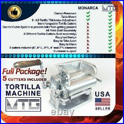 MTG Tortilla Machine Roller & Crank Full PK 5 Different Cutters Included