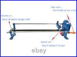 Manual Foil Paper Cutter Hot Stamping Rolls Slitter PU Vinyl Cutting Machine