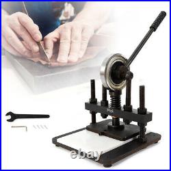 Manual Hand Leather Die Cutting Machine Leather Mold Cutter Punch Press 20x14cm