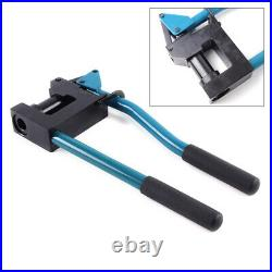Manual Lever Sheet Metal Stud Punch Cutter punching machine with 2 drill bit
