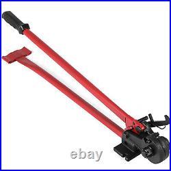 Manual Threaded Rod Cutter 3/8 Bolt Cutting Machine 30 Handle Alloy Steel Jaws
