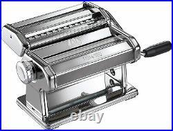 Marcato Atlas 180 Pasta Machine with Cutter, Hand Crank & Instructions, Steel