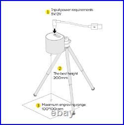 Mini Laser Engraver Machine Portable printer 3D Etcher Cutter DIY Desktop smart
