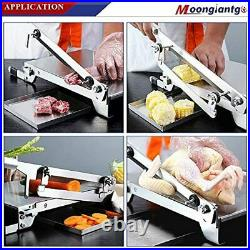 Moongiantgo Manual Meat Slicer Stainless Steel Ribs Bone Cutter Cutting Machine