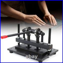 New 300150mm Manual Leather Cutting Machine Die Cut Cutter Embossing Machines