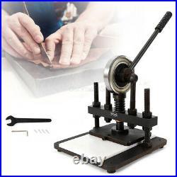 New Die Cutting Machine Hand Press Mold Cutter Leather Embossing Machine 20x14cm