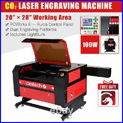 OMTech 100W 28x20in CO2 Laser Engraver Cutter Machine Ruida DSP with Lightburn
