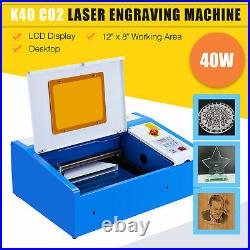 OMTech 40W 12x 8 CO2 Laser Engraver Cutter Engraving Cutting Machine K40 DIY
