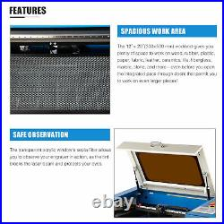 OMTech 50W 12x20 CO2 Laser Engraver Cutter Engraving Machine with Rotary Axis