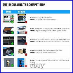 OMTech 50W 20x12 Desktop CO2 Laser Engraver Cutter Cutting Engraving Machine