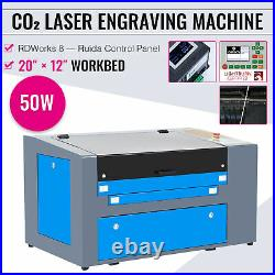 OMTech 50W 20x12 Ruida CO2 Laser Engraver Cutter Cutting Engraving Machine