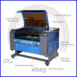 OMTech 60W CO2 Laser Engraving Cutting Machine Ruida Engraver Cutter 28x20 in
