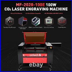 OMTech CO2 Laser Cutting Engraving Machine Engraver Cutter Marker 100W 28x20in