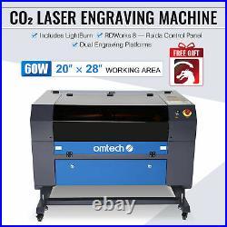 Omtech 60W 28x20 Inch CO2 Laser Engraver Cutter Machine Ruida with Lightburn