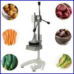 Potato French Fries Cutter Vertical Vegetable Slicer Machine Chopper 3 Blades