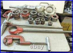 Ridgid 700 Pipe Threader Machine Set 9 Dies, Manual Threader, Ream, Pipe Cutter