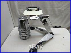 Saladmaster 5 Cones Food Processor Machine Cutter Salad Shooter Slicer Shredder