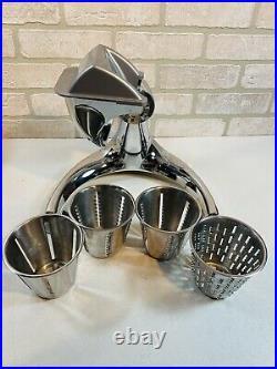 Saladmaster V Machine Food Processor 4 Cones Cutter Grater Shredder Slicer Dicer