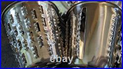 Saladmaster V Machine Food Processor Slicer Shredder Chopper 5 Cones & Guard